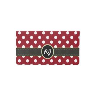 U-pick Background Color/ Classic White Polka Dots Checkbook Cover