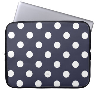 U-pick Background Color/ Classic White Polka Dots Computer Sleeve