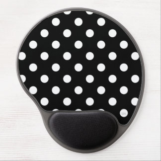 U-pick Background Color/ Classic White Polka Dots Gel Mouse Pad