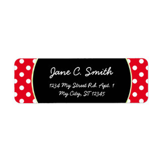 U-pick Background Color/ Classic White Polka Dots Label