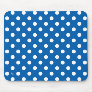 U-pick Background Color/ Classic White Polka Dots Mouse Pad