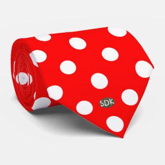 U-pick Background Color/ Classic White Polka Dots Neck Tie
