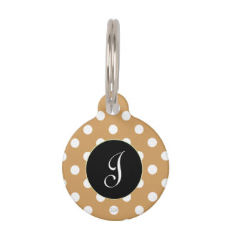 U-pick Background Color/ Classic White Polka Dots Pet ID Tag