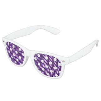 U-pick Background Color/ Classic White Polka Dots Retro Sunglasses