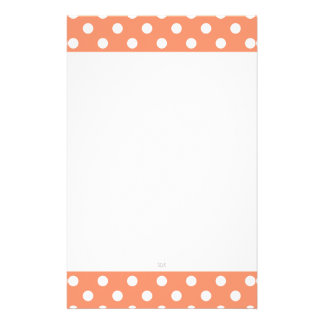 U-pick Background Color/ Classic White Polka Dots Stationery