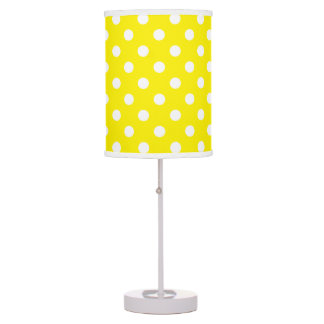 U-pick Background Color/ Classic White Polka Dots Table Lamp
