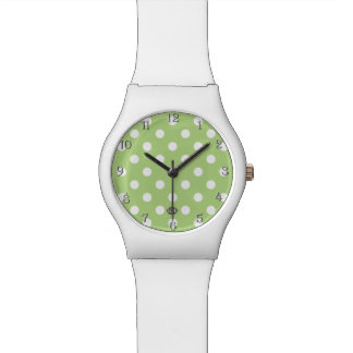 U-pick Background Color/ Classic White Polka Dots Watch