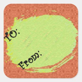 U Pick Background Color/Halloween Gift Tag Label Square Sticker
