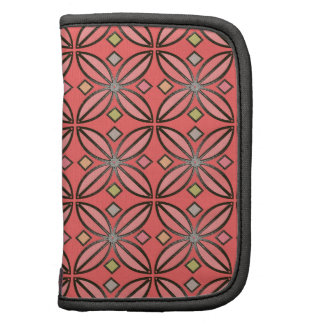 U-pick Background Color Iron Stain Glass Flower Folio Planner