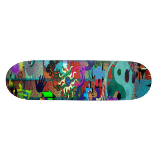 U-pick Background/ Graffiti Art on Brick Wall Skateboard