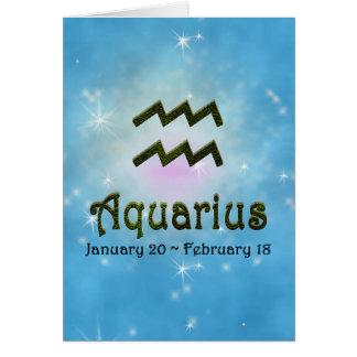 U Pick Color/ Aquarius Happy Birthday Card