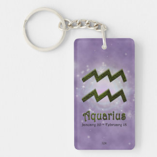 U Pick Color/ Aquarius Personalize Lost & Found Keychain
