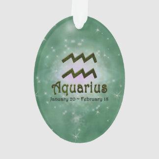 U Pick Color/ Aquarius Zodiac Sign Ornament