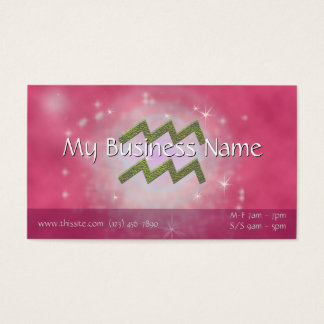 U Pick Color/ Aquarius Zodiac Sign Personalize Business Card