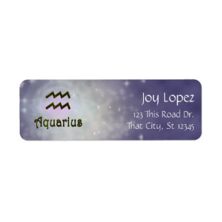 U Pick Color/ Aquarius Zodiac Sign Personalize Label