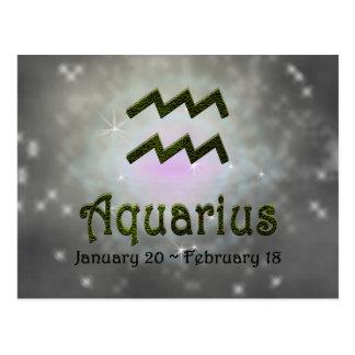 U Pick Color/ Aquarius Zodiac Sign Postcard