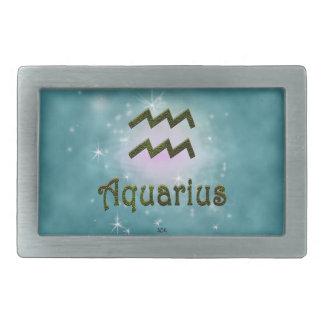 U Pick Color/ Aquarius Zodiac Sign Rectangular Belt Buckle
