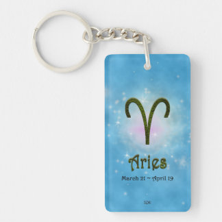 U Pick Color/ Aries Personalize Lost & Found Keychain