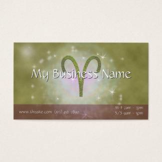 U Pick Color/ Aries Zodiac Sign Personalize Business Card