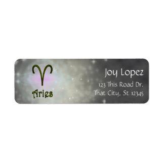 U Pick Color/ Aries Zodiac Sign Personalize Label