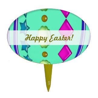 U-pick Color/ Bedazzled Easter Eggs w/ Rhinestones Cake Topper
