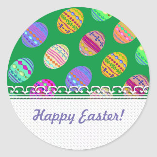U-pick Color/ Bedazzled Easter Eggs w/ Rhinestones Classic Round Sticker