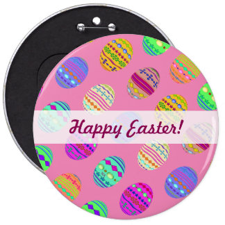 U-pick Color/ Bedazzled Easter Eggs w/ Rhinestones Pinback Button