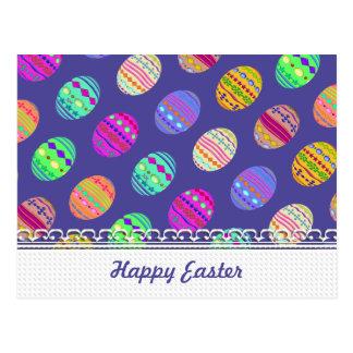 U-pick Color/ Bedazzled Easter Eggs w/ Rhinestones Postcard