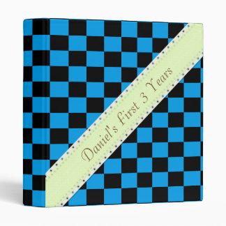 U-pick Color Black Checkered Tiles 3 Ring Binder