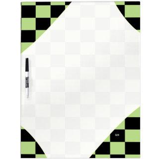 U-pick Color Black Checkered Tiles Dry Erase Board