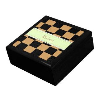 U-pick Color Black Checkered Tiles Gift Box