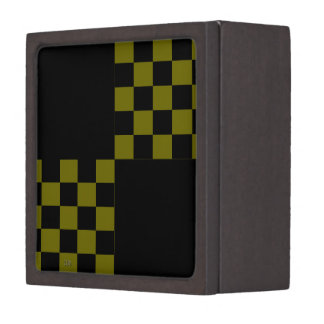 U-pick Color Black Checkered Tiles Keepsake Box