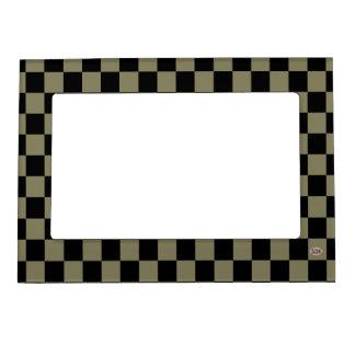 U-pick Color Black Checkered Tiles Magnetic Photo Frame