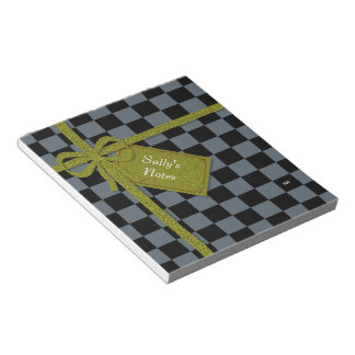 U-pick Color Black Checkered Tiles Notepad