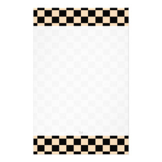 U-pick Color Black Checkered Tiles Stationery