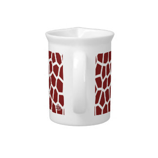 U pick Color/ Brown Giraffe Print in Mosaic Tile Drink Pitcher