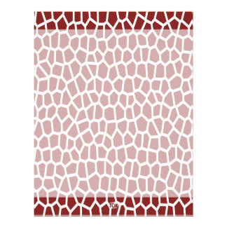 U pick Color/ Brown Giraffe Print in Mosaic Tile Letterhead