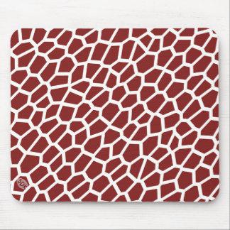 U pick Color/ Brown Giraffe Print in Mosaic Tile Mouse Pad