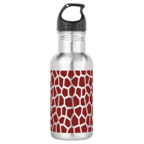 U pick Color/ Brown Giraffe Print in Mosaic Tile Water Bottle