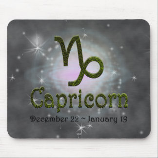 U Pick Color/ Capricorn Zodiac Sign Mouse Pad