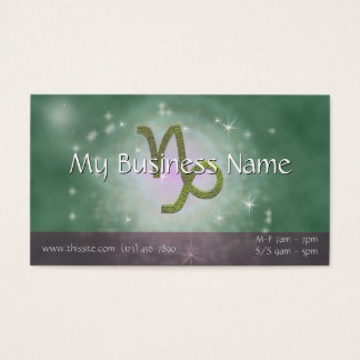 U Pick Color/ Capricorn Zodiac Sign Personalize Business Card