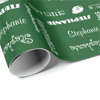 U Pick Color/ Chalk White Personalized with Name Wrapping Paper