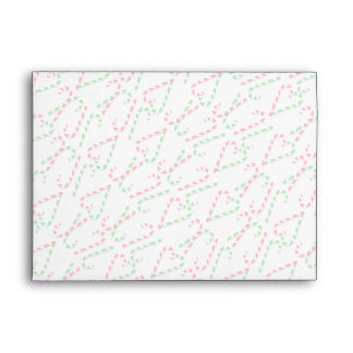 U Pick Color/ Christmas Holiday Candy Canes Envelope