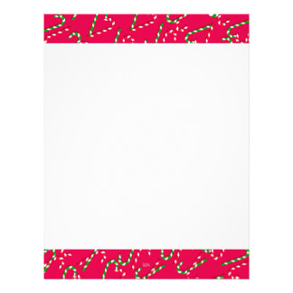 U Pick Color/ Christmas Holiday Candy Canes Letterhead