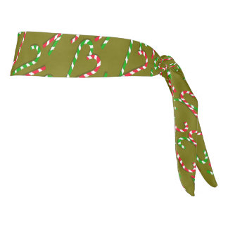 U Pick Color/ Christmas Holiday Candy Canes Tie Headband