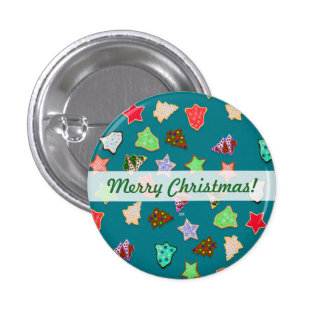 U Pick Color/ Christmas Holiday Cookies Button