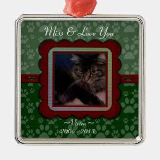 U Pick Color/Christmas Pet Memorial Personalized Metal Ornament