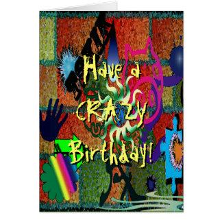 U-pick Color/ Crazy Graffiti Art on Brick Wall Card