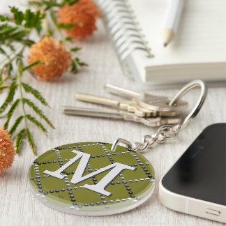 U pick Color/ Criss Crossing Chrome Metal St Keychain