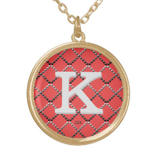 U pick Color/ Criss Crossing Chrome Metal St Round Pendant Necklace